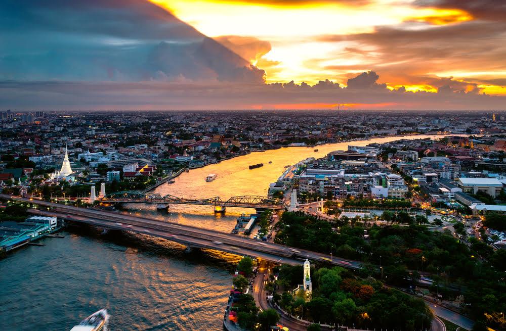 Chao Phraya River_Bangkok sunset